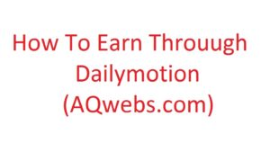 how to earn through dailymotion